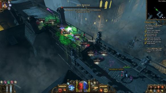 A night battle in The Incredible Adventures of Van Helsing