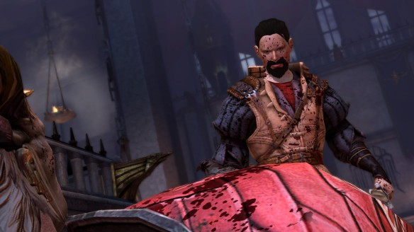 Hawke battles the Arishok in Dragon Age 2