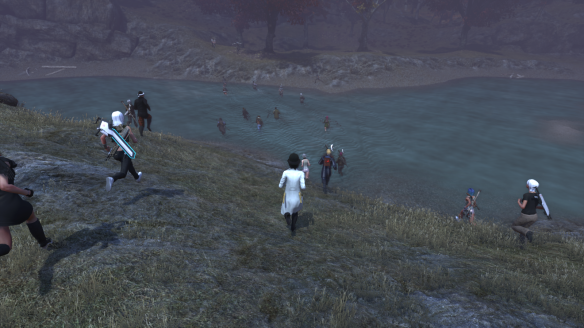 Players rushing to defeat Hel in The Secret World