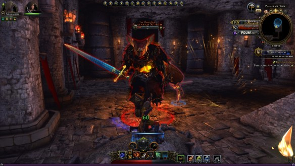 A screenshot from my Neverwinter Foundry quest, Birth of a God