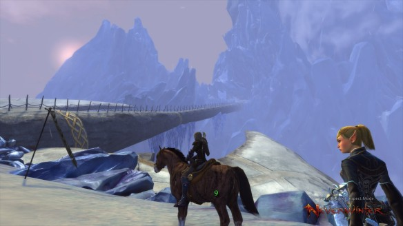 My ranger ascends Icespire Peak in Neverwinter