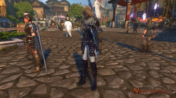My ranger and her sellsword companion in Neverwinter
