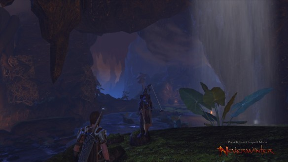 My ranger and her sellsword companion explore the Underdark in Neverwinter