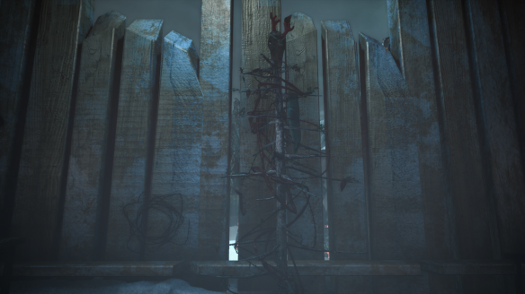 A gruesome Christmas tree in Niffleheim in The Secret World