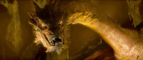The titular dragon of The Hobbit: Desolation of Smaug