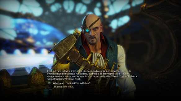 Talking with General Henry in Divinity: Dragon Commander