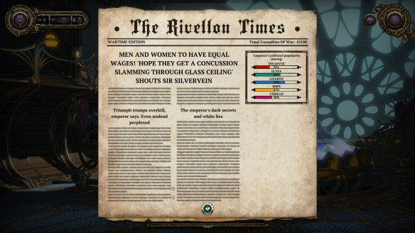 The Rivellon Times in Divinity: Dragon Commander