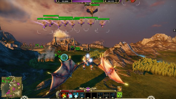 Commanding my troops in dragon mode in Divinity: Dragon Commander