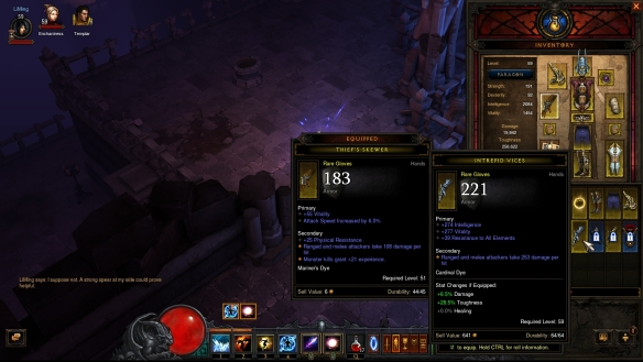 A comparison of loot before and after patch 2.0.1 in Diablo III