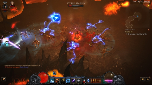 My wizard using the new spark rune for arcane orb in Diablo III