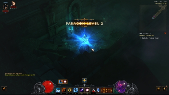 Achieving Paragon level 2 in Diablo III