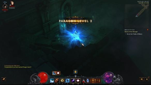Achieving Paragon level 2 in Diablo III