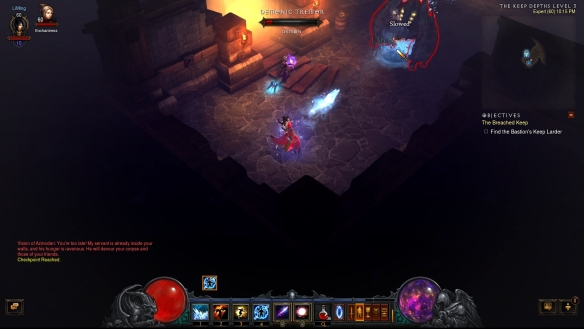 My wizard using the new glacial spike rune for magic missile in Diablo III