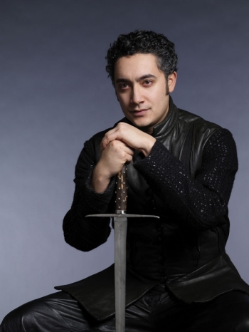 A photo of actor Alessandro Juliani in medieval attire