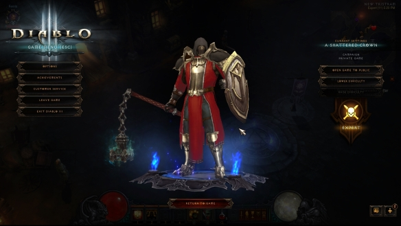 My crusader looking stylish in Diablo III: Reaper of Souls