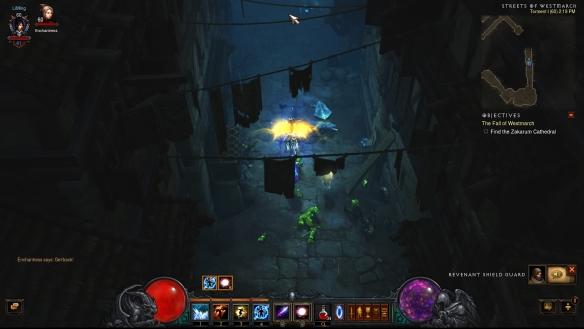 The streets of Westmarch in Diablo III: Reaper of Souls
