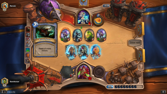 A game of Hearthstone