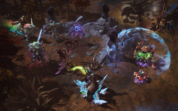 A promotional screenshot for Heroes of the Storm