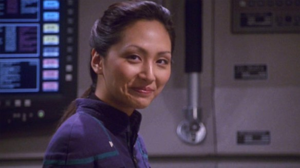 Linda Park in her role as Hoshi Sato on Star Trek: Enterprise