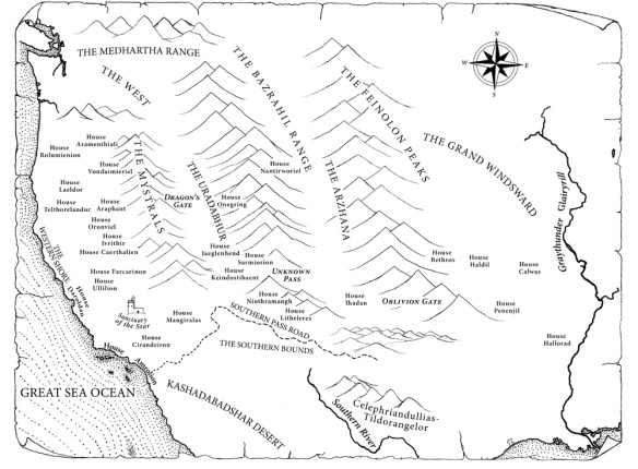 "A map of the Fortunate Lands from ""The Dragon Prophecy"""