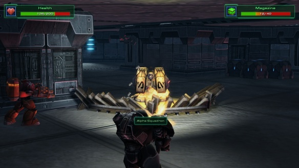 The Jacobs Installation mission in third person shooter mode in the StarCraft: Mass Recall mod