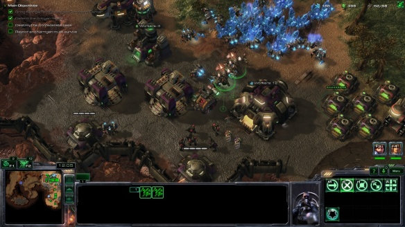 A Terran mission in the StarCraft: Mass Recall mod