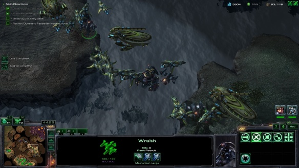 The secret mission Biting the Bullet in the StarCraft: Mass Recall mod