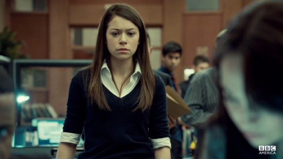 Sarah impersonating Beth in Orphan Black