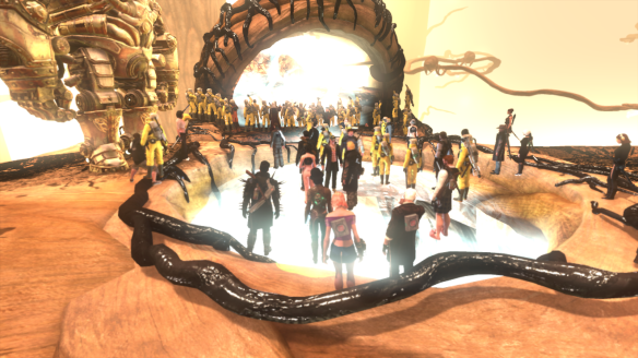 Players attempt to clean the Filth from Agartha during the Whispering Tide event