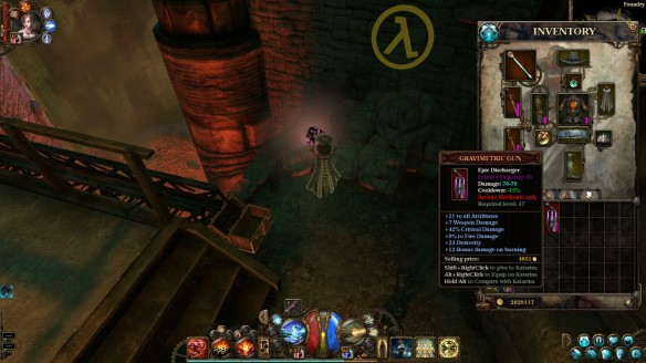 An Easter egg in The Incredible Adventures of Van Helsing 2
