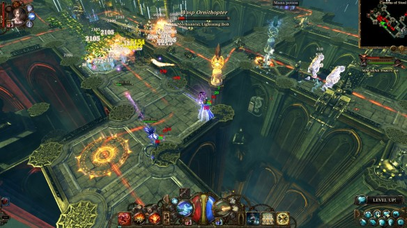 A tower defense map in The Incredible Adventures of Van Helsing 2