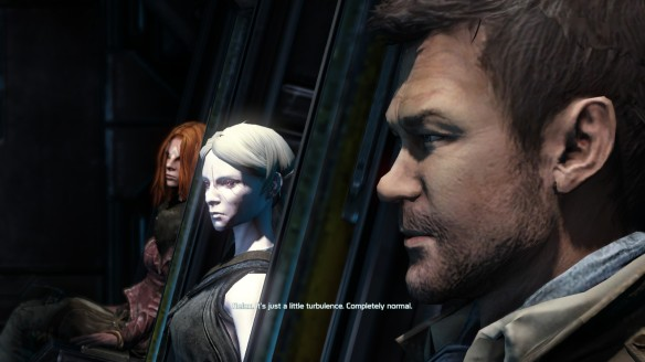 My Castithan, Nolan, and Irisa aboard the New Freedom in Defiance