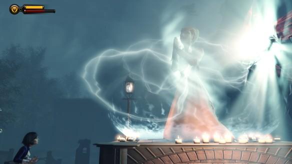 "Elizabeth confronts the spectre of her ""mother"" in Bioshock: Infinite"