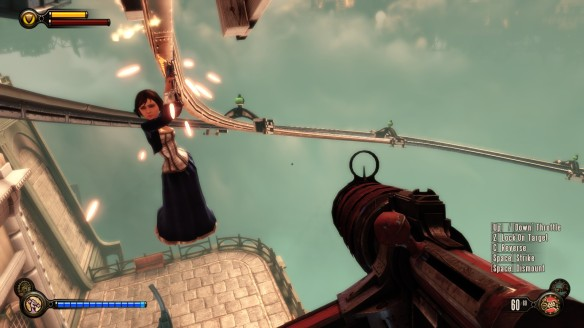 Riding the skylines with Elizabeth in Bioshock: Infinite