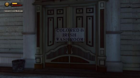 Colored and Irish washrooms in Bioshock: Infinite