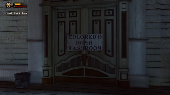 Colored and Irish washrooms in Bioshock: Infinite