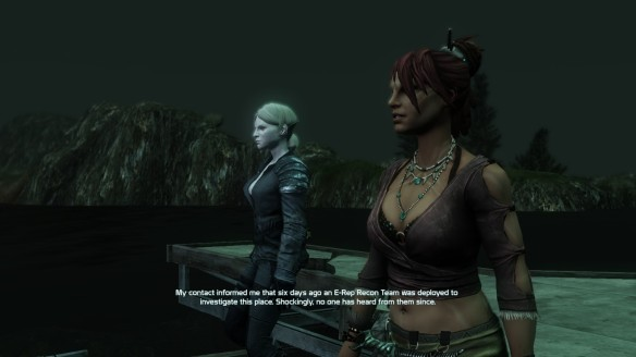My Castithan character and Cass Ducar in Defiance