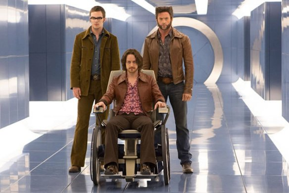 "Professor Xavier, Hank ""Beast"" McCoy, and Wolverine in X-Men: Days of Future Past"