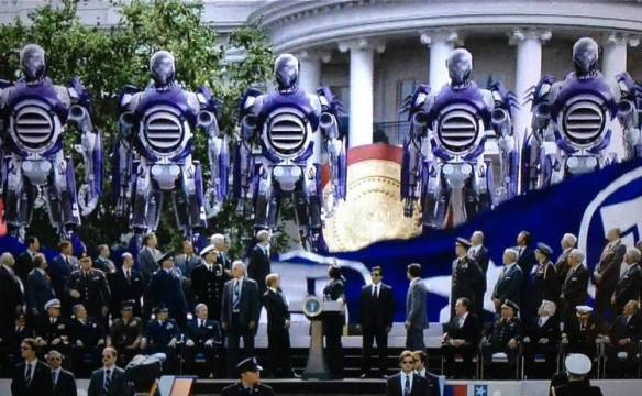 The unveiling of the Sentinels in X-Men: Days of Future Past