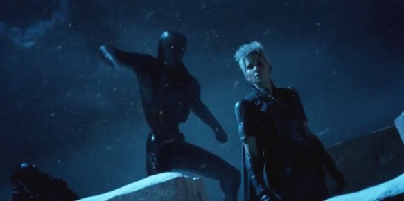 A Sentinel pounces on Storm in X-Men: Days of Future Past