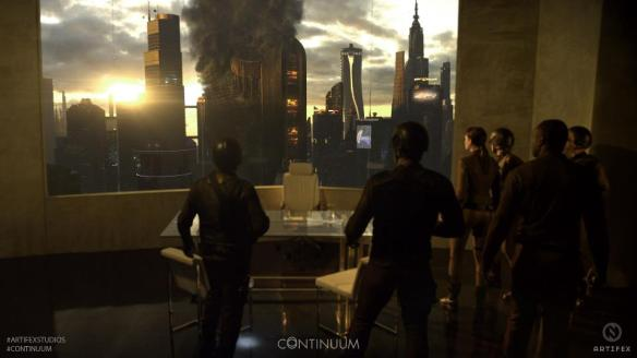 Liber8 launches a devastating terrorist attack in 2077 in Continuum