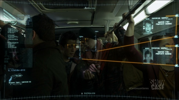 A first person perspective of Kiera's HUD in Continuum