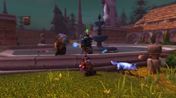 My panda hunter doing Scarlet Monastary in World of Warcraft