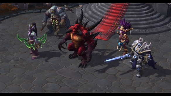 The opposing team in the tutorial for Heroes of the Storm