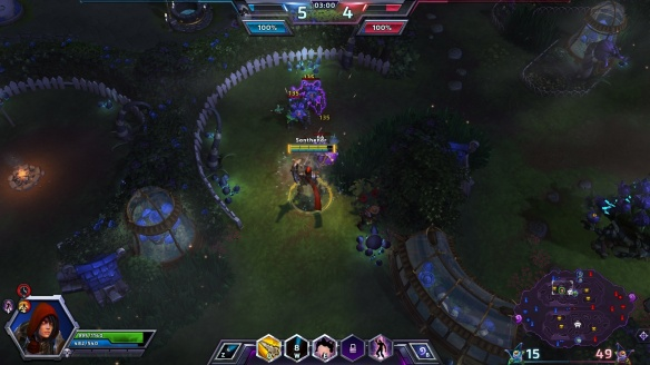Fighting plant horrors in the Garden of Terror in Heroes of the Storm