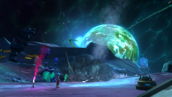 A space mission in WildStar