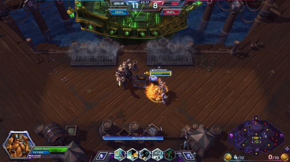 Delivering coins on Blackheart's Bay in the Heroes of the Storm alpha