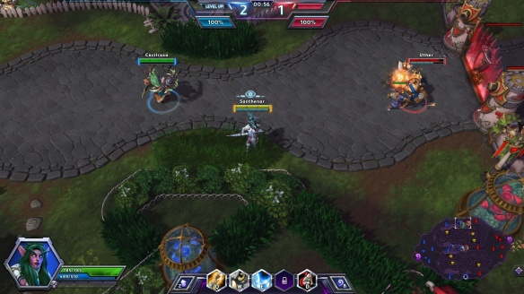 Laying an ambush as Tyrande in the Heroes of the Storm alpha
