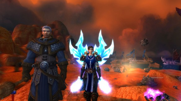 My rogue and Khadgar during the Iron Tide pre-expansion event