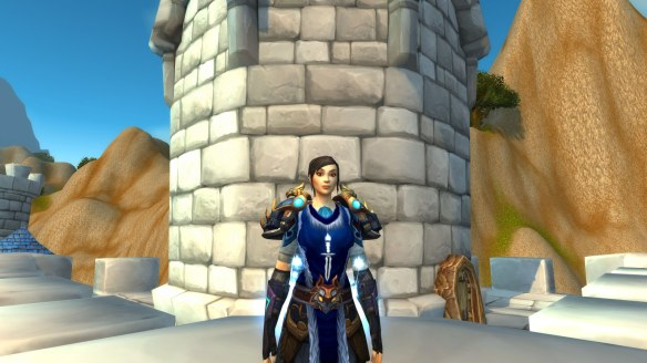 My rogue's updated face in World of Warcraft